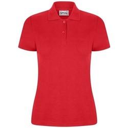 vaatteet Naiset Lyhythihainen poolopaita Casual Classics  Red