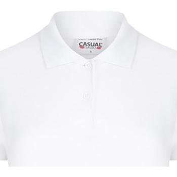 vaatteet Naiset Lyhythihainen poolopaita Casual Classics  White