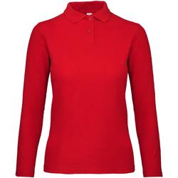 vaatteet Naiset Pitkähihainen poolopaita B And C PWI13 Crimson