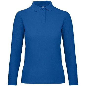 vaatteet Naiset Pitkähihainen poolopaita B And C PWI13 Royal Blue