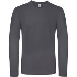 vaatteet Miehet T-paidat pitkillä hihoilla B And C TU05T Dark Grey