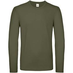 vaatteet Miehet T-paidat pitkillä hihoilla B And C TU05T Urban Khaki