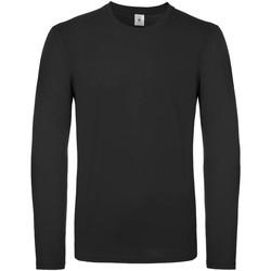 vaatteet Miehet T-paidat pitkillä hihoilla B And C TU05T Black
