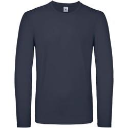 vaatteet Miehet T-paidat pitkillä hihoilla B And C TU05T Navy