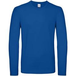 vaatteet Miehet T-paidat pitkillä hihoilla B And C TU05T Royal Blue