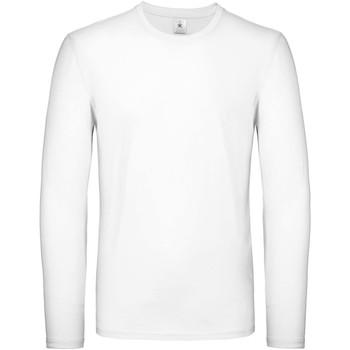 vaatteet Miehet T-paidat pitkillä hihoilla B And C TU05T White