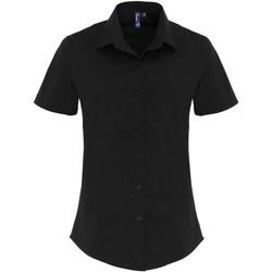 vaatteet Naiset Paitapusero / Kauluspaita Premier PR346 Black