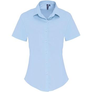 vaatteet Naiset Paitapusero / Kauluspaita Premier PR346 Pale Blue