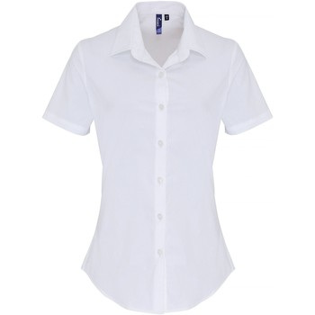 vaatteet Naiset Paitapusero / Kauluspaita Premier PR346 White