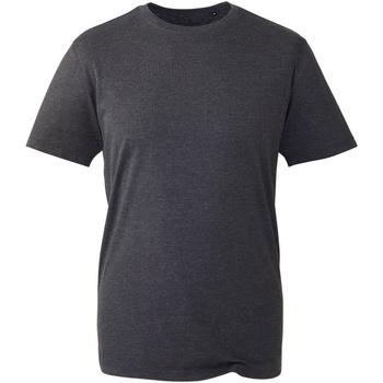 vaatteet Miehet Lyhythihainen t-paita Anthem AM010 Dark Grey Marl