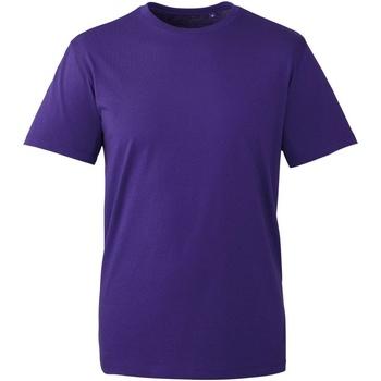vaatteet Miehet Lyhythihainen t-paita Anthem AM010 Purple