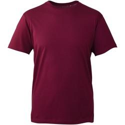 vaatteet Miehet Lyhythihainen t-paita Anthem AM010 Burgundy