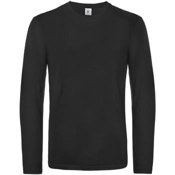 vaatteet Miehet T-paidat pitkillä hihoilla B And C TU07T Black