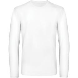 vaatteet Miehet T-paidat pitkillä hihoilla B And C TU07T White