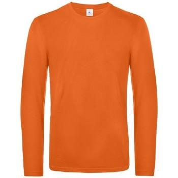 vaatteet Miehet T-paidat pitkillä hihoilla B And C TU07T Urban Orange