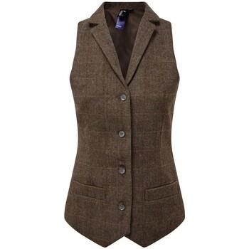 vaatteet Naiset Liivit Premier PR626 Brown Check