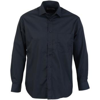 vaatteet Miehet Pitkähihainen paitapusero Absolute Apparel  Black