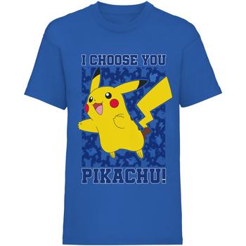 vaatteet Lapset Lyhythihainen t-paita Pokemon  Blue
