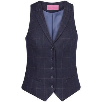 vaatteet Naiset Liivit Brook Taverner BK521 Navy Check