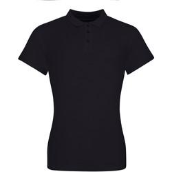 vaatteet Naiset Lyhythihainen poolopaita Awdis JP10F Deep Black