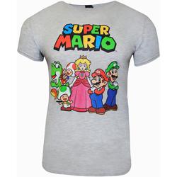 vaatteet Lyhythihainen t-paita Super Mario  Grey Heather