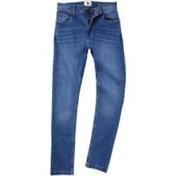 vaatteet Miehet Suorat farkut Awdis SD004 Mid Blue Wash