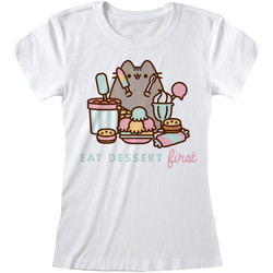vaatteet Naiset Lyhythihainen t-paita Pusheen  White