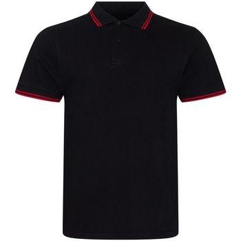 vaatteet Miehet Lyhythihainen poolopaita Awdis JP003 Black/Red