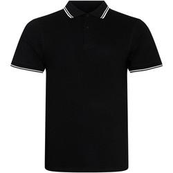 vaatteet Miehet Lyhythihainen poolopaita Awdis JP003 Black/White