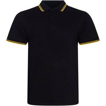 vaatteet Miehet Lyhythihainen poolopaita Awdis JP003 Black/Yellow