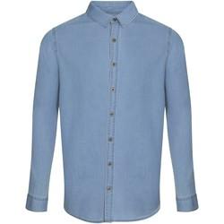 vaatteet Miehet Pitkähihainen paitapusero Awdis SD040 Light Blue
