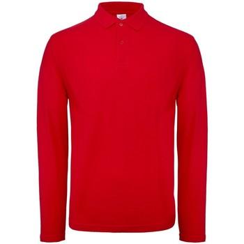 vaatteet Miehet Pitkähihainen poolopaita B And C BA290 Red
