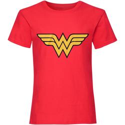 vaatteet Naiset Lyhythihainen t-paita Dc Comics  Red