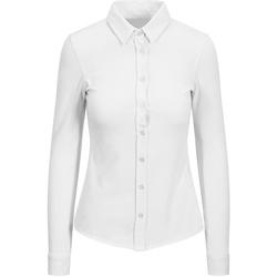vaatteet Naiset Paitapusero / Kauluspaita Awdis SD047 White