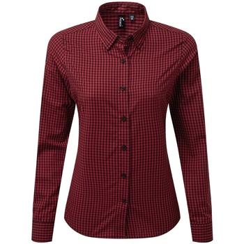 vaatteet Naiset Paitapusero / Kauluspaita Premier PR352 Black/Red