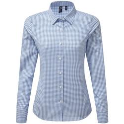 vaatteet Naiset Paitapusero / Kauluspaita Premier PR352 Light Blue/White