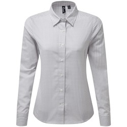vaatteet Naiset Paitapusero / Kauluspaita Premier PR352 Silver/White