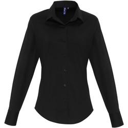vaatteet Naiset Paitapusero / Kauluspaita Premier PR344 Black