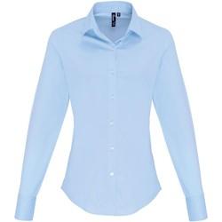 vaatteet Naiset Paitapusero / Kauluspaita Premier PR344 Pale Blue