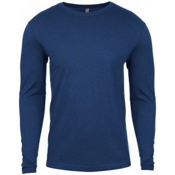 vaatteet Miehet T-paidat pitkillä hihoilla Next Level NX3601 Cool Blue