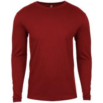 vaatteet Miehet T-paidat pitkillä hihoilla Next Level NX3601 Dark Red