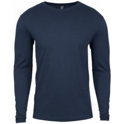 vaatteet Miehet T-paidat pitkillä hihoilla Next Level NX3601 Indigo Blue