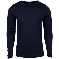 vaatteet Miehet T-paidat pitkillä hihoilla Next Level NX3601 Midnight Navy
