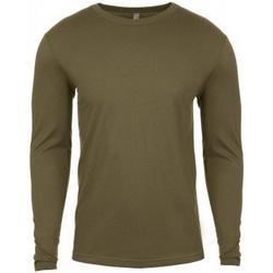 vaatteet Miehet T-paidat pitkillä hihoilla Next Level NX3601 Military Green