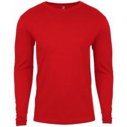 vaatteet Miehet T-paidat pitkillä hihoilla Next Level NX3601 Red