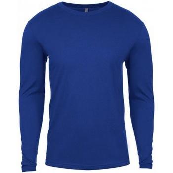 vaatteet Miehet T-paidat pitkillä hihoilla Next Level NX3601 Royal Blue