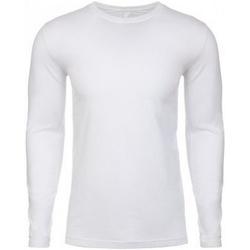 vaatteet Miehet T-paidat pitkillä hihoilla Next Level NX3601 White