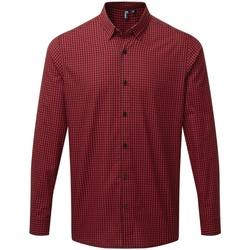 vaatteet Miehet Pitkähihainen paitapusero Premier PR252 Black/Red