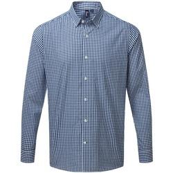vaatteet Miehet Pitkähihainen paitapusero Premier PR252 Navy/White
