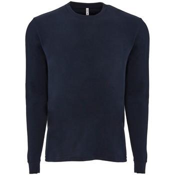 vaatteet T-paidat pitkillä hihoilla Next Level NX6411 Midnight Navy